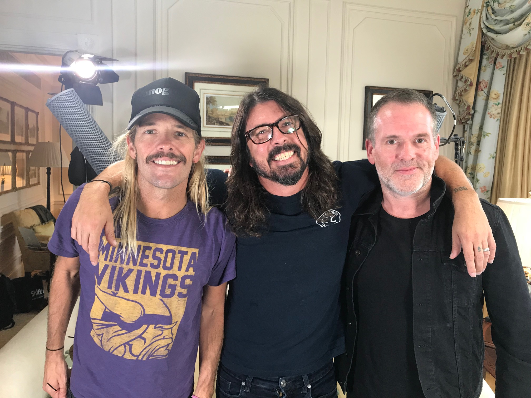 Foo Fighters Taylor Hawkins, Dave Grohl and Chris