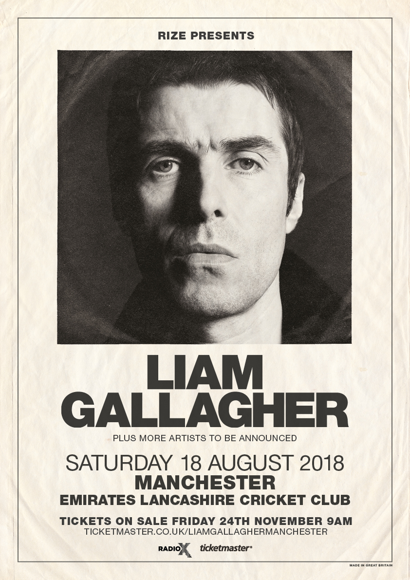 Liam Gallagher Manchester Emirates 2018