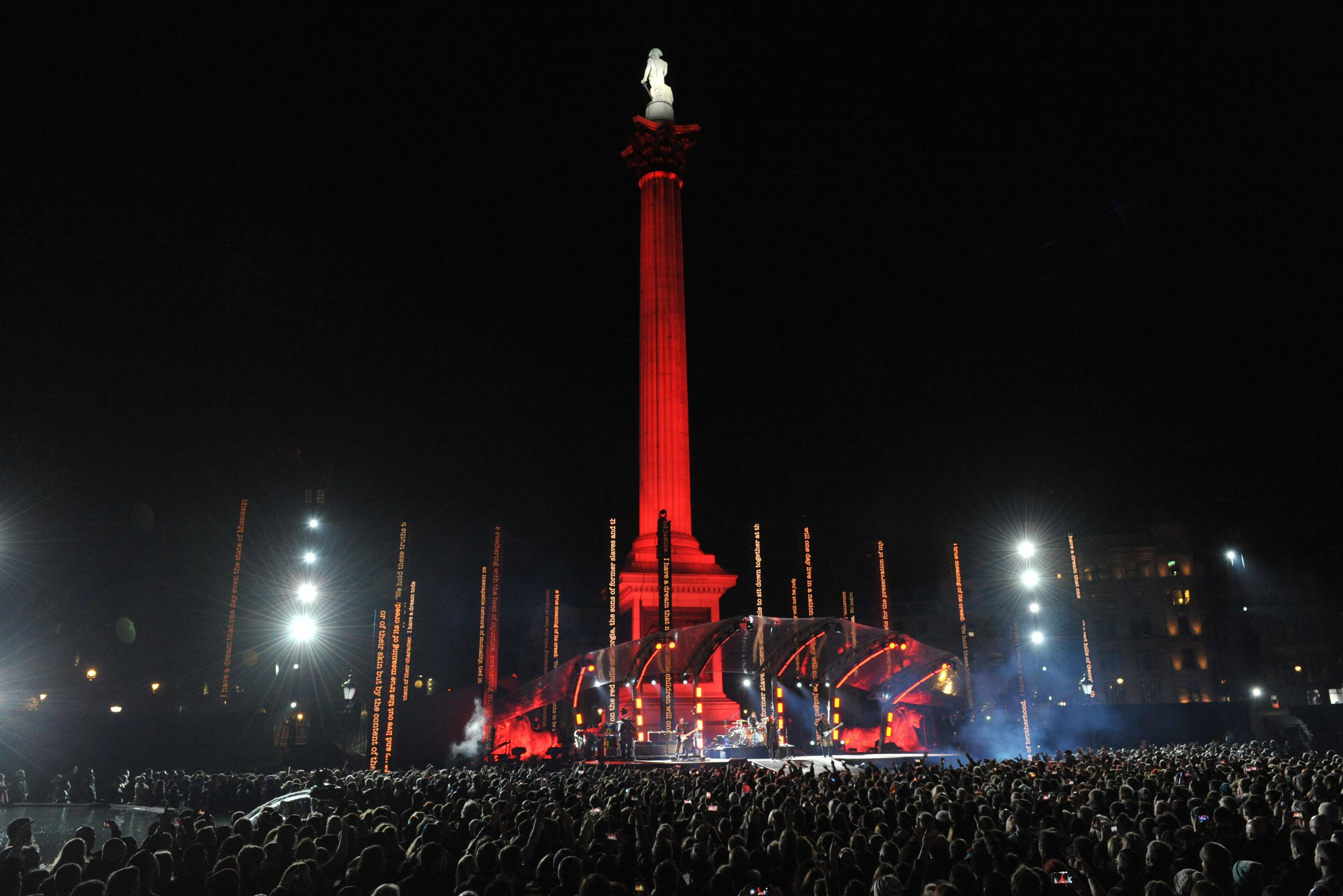 U2 Trafalgar Square Gig